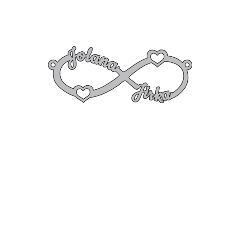 Infinite Couple Name Necklace