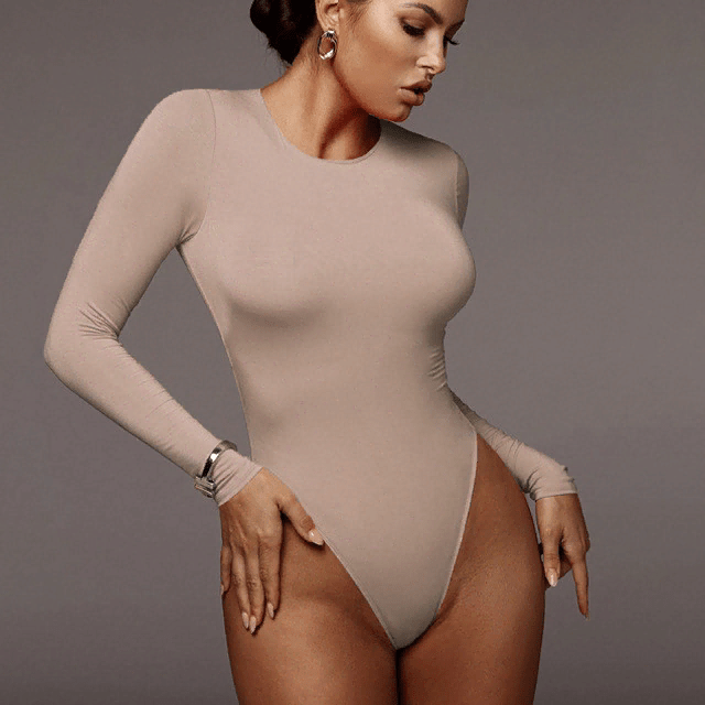 Long Sleeve Solid White Bodysuit