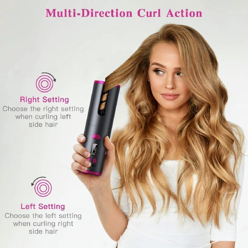 Cordless Automatic Rotating Hair Curler