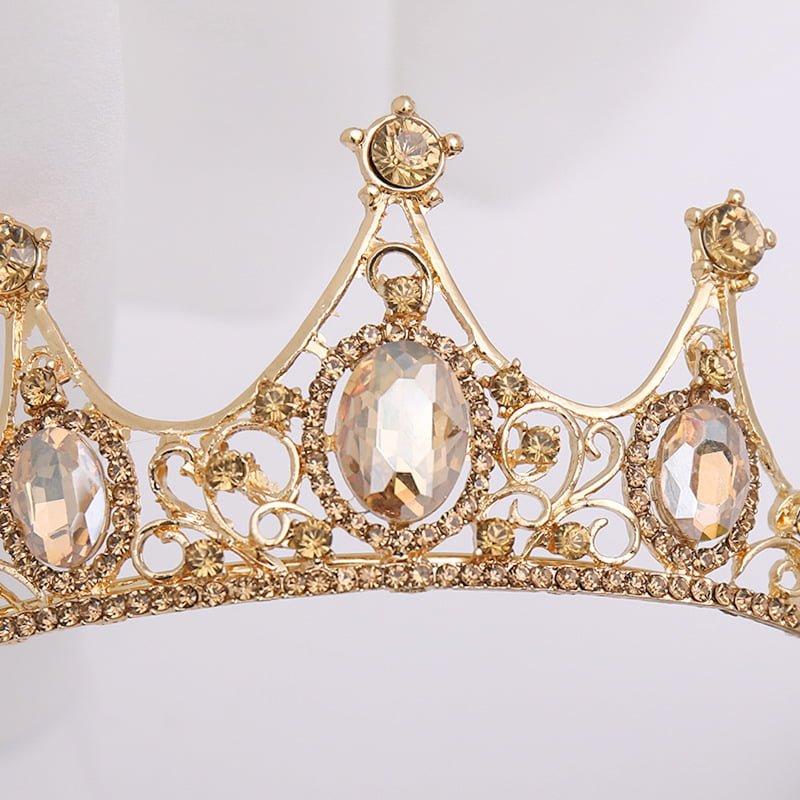 Champagne Gold Crown Tiaras Headband