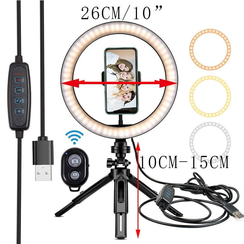 Portable Selfie Ring Light With Stand