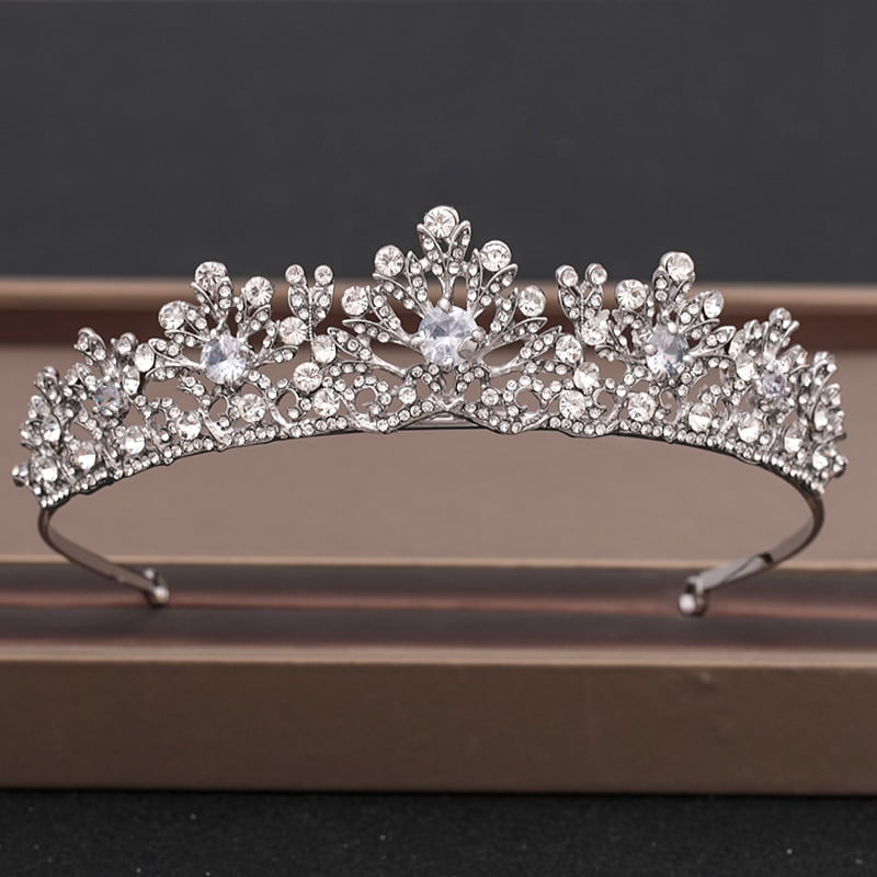 Bridal Gold Crystal Tiaras Crowns