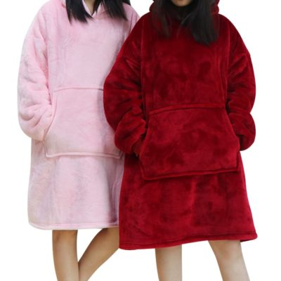 Oversize Women Blanket Sweatshirt Robe