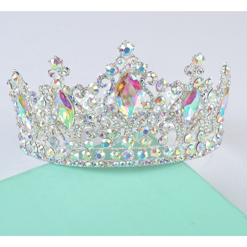 Crystal Queen Bridal Silver Tiaras