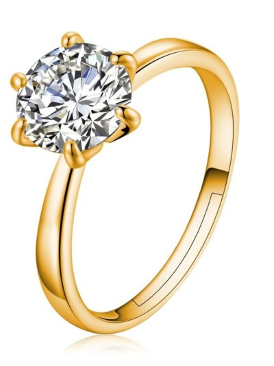 Six Claw Gold Color Ring