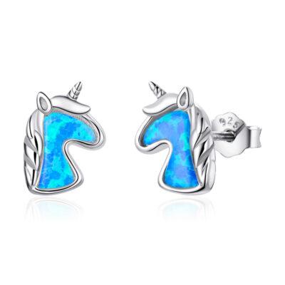 Opal Unicorn Stud Earrings for Women