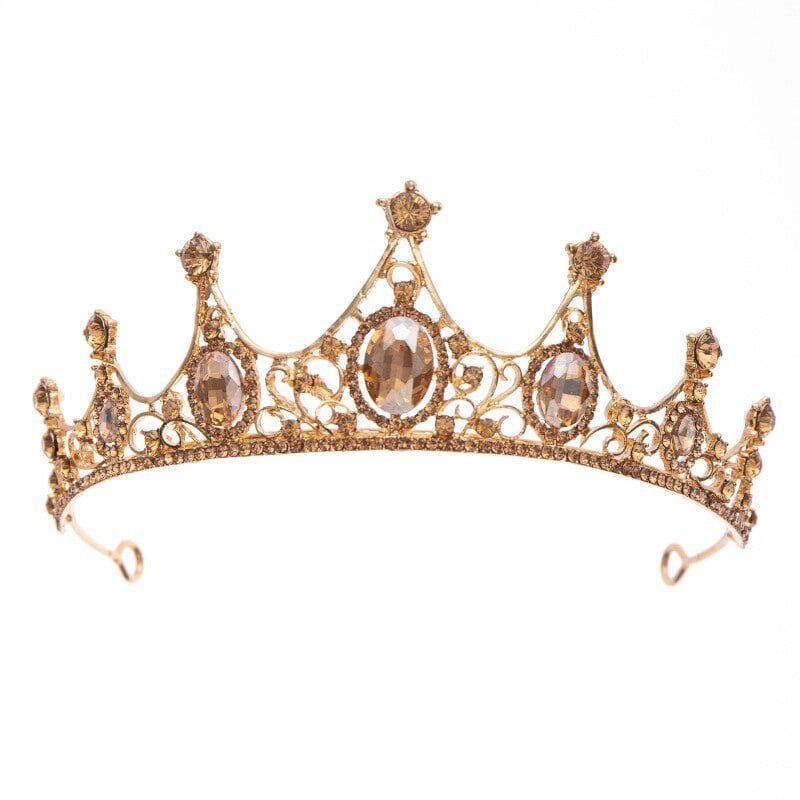 Champagne Gold Crown Tiaras Headband