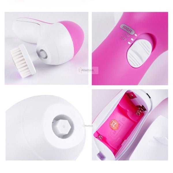 Soft 5 in 1 Electric Facial Brush & Massager