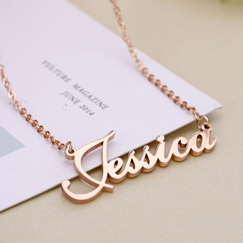 Rose Gold Personalized Name Necklace