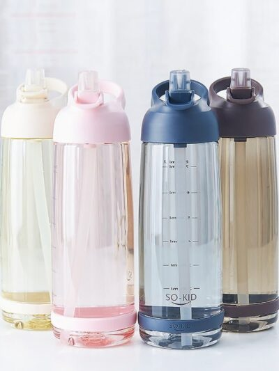 1000ml Hiking Water Bottle with Straw
