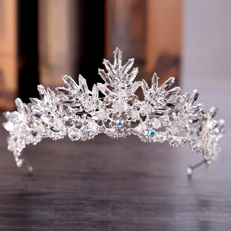 Black Vintage Crystal Bridal Crown