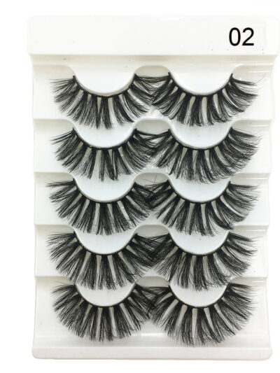 5 Pairs 2 Styles 3D Faux Soft False Eyelashes