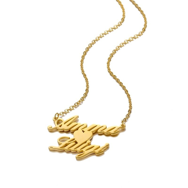 Personalized Couple Name Necklace