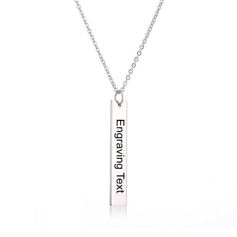 Customized Bar Pendant Name Necklace