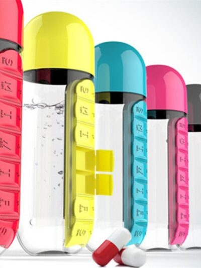 Daily Pill Cup Water Bottle