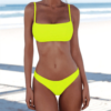 Solid Sexy Two-Piece Swimsuit