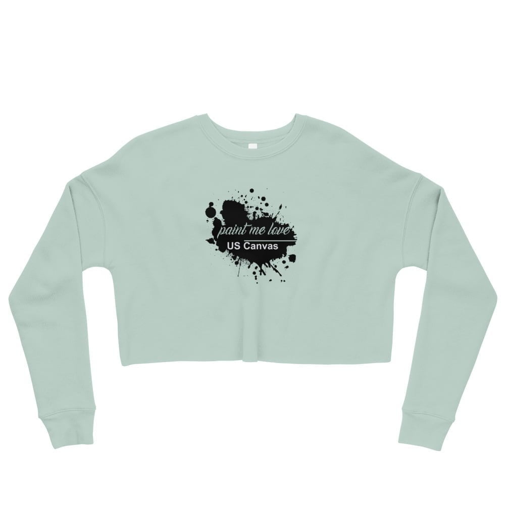 Paint me love crop sweatshirt